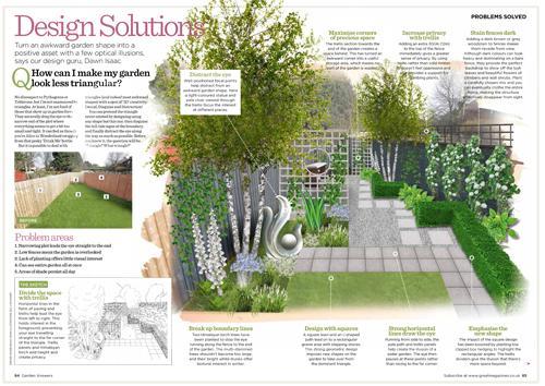 Garden Answers - Design Solutions: Triangular Plot (Oct ...